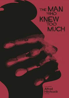 The Man who Knew too Much - Alfred Hitchcock Minimal Poster