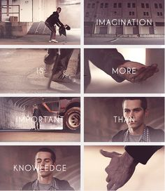 Imagination Is More Important Than Knowledge // #Stiles , Teen Wolf , fan art