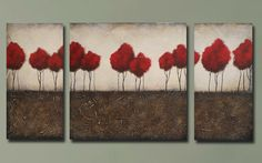 Roots Run Deep series 36x72 Acrylic painting and plaster by Britt Hallowell