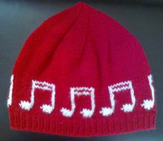 Music notes beanie hat by HandmadeByMariAnne on Etsy, Winter Warmers, Music Notes, Beanie Hats, Knitwear, Challenge, Trending Outfits, Unique Jewelry, Handmade Gifts, Etsy