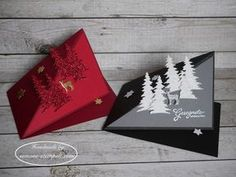 Kleine Pop up Weihnachtskarte Stampin`Up! Carols of Christmas Diy Christmas Cards Pop Up, Christmas Yard, Stampin Up Christmas, Christmas Deco, Xmas Cards, Handmade Christmas, Fancy Fold Cards, Folded Cards, Card Making Tutorials