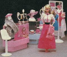 Barbie Dream Store Fashion Department From The 1980s our friends had this store! Loved it!