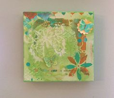 Love Mixed Media Canvas Art with Butterflies by Scrapbooker429, $25.99  https://www.etsy.com/listing/197879326/love-mixed-media-canvas-art-with