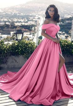 Long Prom Dresses,Off Shoulder Long Satin Prom Dresses Formal Evening Gowns on Luulla