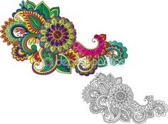 Paisley Flower Tattoo | Paisley Flower Drawing Tattoo Page 41