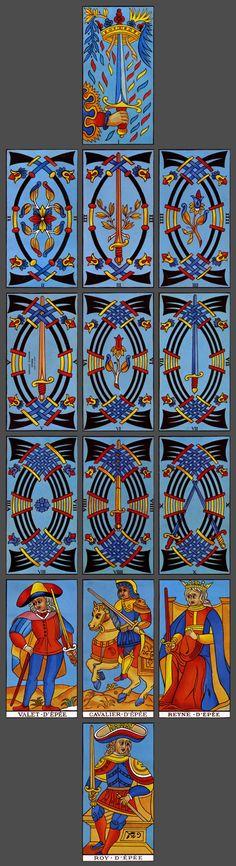 Fournier Tarot de Marseille: Suit of Swords // Guler, Aymerich, 1983