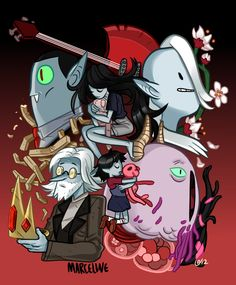 hora-de-aventura:    Oh Marceline,Adventure Timefan art byFataldose