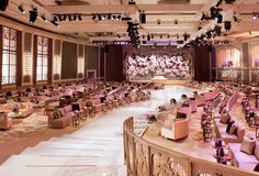 Event Set-Up: Grand Parisian - DesignLab Experience Reception Stage Decor, Wedding Reception, Party Wedding, Dubai Wedding, Wedding Events, Stage Decorations, Wedding Decorations, Indian Wedding Stage, Trendy Wedding