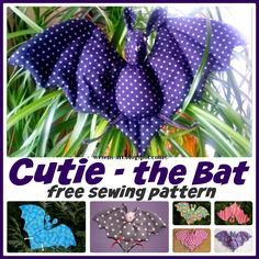 Cutie the Bat - free sewing pattern The Ultimate Pinterest Party, Week 69