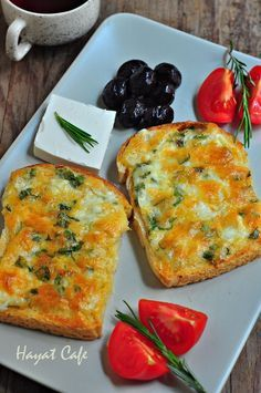 Hayat Cafe » » Fırında Kahvaltılık Peynirli Ekmek | Kolay Pratik Tarifler