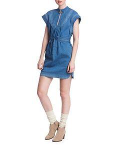 Plenty By Tracy Reese Denim Dress Women's Blue Large