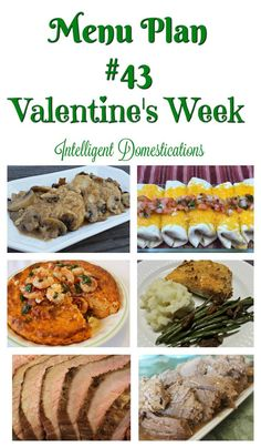 Menu Plan bring us into Valentine's Week. Our menu options this week include a few ideas for you to consider for your Valentine's meal at home. Christmas Decorations To Make, Christmas Diy, Home Recipes, Dinner Recipes, Valentines Food, Menu Planning, Clever Diy, Homemaking, Food To Make