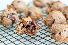 Grain Free Hazelnut Butter Chocolate Chunk Cookies - grain free and super healthy dessert
