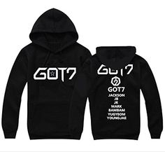 GOT7 Sweater the Same Style Jackson Mark JB BamBam YoungJae Hoodie Sweatershirt Black L * You can find more details by visiting the image link.