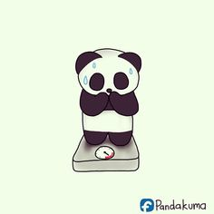 Haha 😅😍just 46.5😅💕 Cute Panda Baby, Baby Panda Bears, Cartoon Panda, Cute Cartoon, Cute Sloth, Cute Cats, Panda Bebe, Cute Panda Wallpaper, Panda Drawing