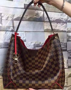 Louis Vuitton Damier Ebene Caissa Hobo N41555 sale at cheap price - USD 271.  Free Internation Shipping.  Find more on http://www.luxtime.su/louis-vuitton-handbags