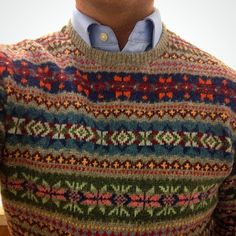Fair Isle for real Moda Preppy, Preppy Men, Preppy Style, Motif Fair Isle, Fair Isle Pattern, Tweed Run, Country Attire, Fair Isles, Herren Outfit
