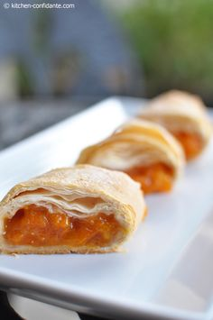"#Apricot Phyllo Strudel: ""Nothing is simpler than phyllo dough – at least the pre-made kind you can find in your freezer section."""