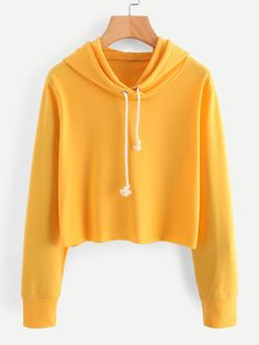 Shop Hooded Drawstring Sweatshirt at ROMWE, discover more fashion styles online. Trendy Boy Outfits, Cute Comfy Outfits, Crop Top Outfits, Teen Fashion Outfits, Cute Outfits For Kids, Simple Outfits, Cool Outfits, Casual Outfits, Sport Outfits