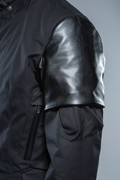 Leather sleeve detail