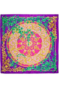 Versace Printed silk-twill scarf | THE OUTNET