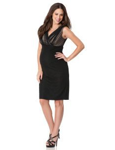 Sleeveless Faux Wrap Maternity Dress // i love it less, but it's almost $200 cheaper