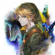 The Legend of Zelda: Twilight Princess, Link and Wolf Link / Work by MID/ミド on pixiv