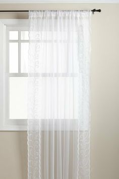 Stylemaster Dawn 54-Inch by 63-Inch Sheer Panel with Embroidered Band, White by Stylemaster. $11.00. Imported. Sizes: 54-inch by 63-inch and 54-inch by 84-inch. 100-Percent sheer polyester fabric with 100-percent embroidered band. Easy care machine wash and dry. 2 Colors: champagne and white. Stylemaster Dawn Panel is made with a sheer polyester fabric bordered with an embroidered band. The sheer fabric easily allows natural light to enter thereby brightening up the room. This b...