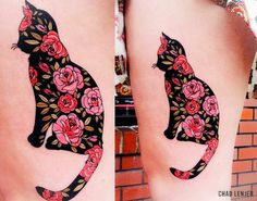 Just love the punchiness of the colours in this tattoo. The solid yet detailed design would be so fab.