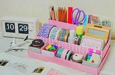 Great DIY ideas for school! ideas school greatGreat DIY ideas for school! ideas school greatGreat DIY ideas for school! ideas school great DIY ideas for school! Diy Storage Boxes, Desk Organization Diy, Diy Organizer, Family Organizer, Office Storage, Organizing Tips, Storage Ideas, School Supply Storage, Diy Desktop