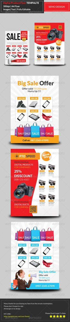 Big Sale Promotion Flyer Templates  Flyer Template Marketing