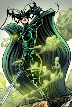 "comic-book-ladies: ""Hela by Will Sliney and Veronica Gandini "" Marvel Hela, Marvel Comics, Marvel E Dc, Marvel Women, Marvel Heroes, Anime Comics, Comic Book Characters, Marvel Characters, Comic Character"
