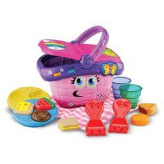 Leap Frog Shapes And Sharing Picnic Basket Set Kids Toddler Toys Park NEW Family