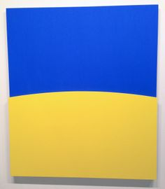 Kelly, Ellsworth - Yellow relief over blue, 2012 - Oil on canvas, two joined panels, 70 x 61in