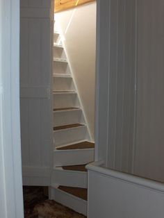 Attic stairs.