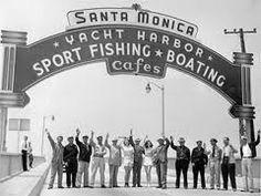 Dedication of the Santa Monica Pier sign. 1940
