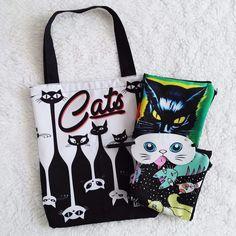 Dica de presente para as #gateiras #mascaradedormir #bolsa #capadealmofada #gato