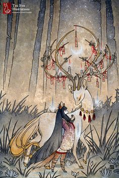 A young kitsune girl seeks the help of a wish granting spirit, hoping to gain exit from the realm of hungry ghosts. - - - - - - - - - - - - -