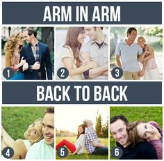 Pose Ideas for Couples: Arm-In-Arm & Back-To-Back