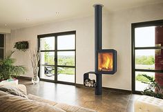 Focus fireplaces : modern fireplaces, stoves and ultra contemporary design BBQ. House Design, Wall Mount Fireplace, Fireplace Design, Stove, Home, Custom Fireplace, Contemporary Wood Burning Stoves, Modern, Wood Stove