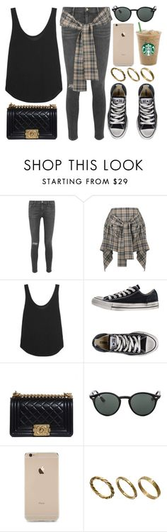 """Style #11066"" by vany-alvarado ❤ liked on Polyvore featuring Frame Denim, Vivienne Westwood Anglomania, Converse, Chanel, Ray-Ban and Made"