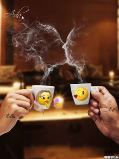 Good morning it's coffee time ~. Good Morning Coffee Gif, Good Morning Messages, Good Morning Good Night, Morning Images, Good Morning Quotes, Romantic Gif, Romantic Pictures, Cool Pictures, Funny Pictures