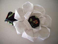 Oragami Flower Hair clip