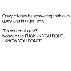 i aint a crazy bitch but i sure aint a soft bitch so i can relate lmao Smart Quotes, Funny True Quotes, Best Quotes, Funny Cute, The Funny, Hilarious, Gf Memes, Funny Memes, Funny Tweets