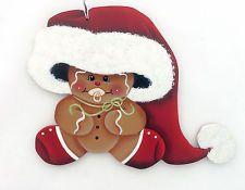 HP GINGERBREAD ORNAMENT  baby ginger in big santa hat