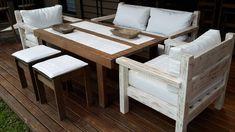 repurposed pallet 6 person dining set