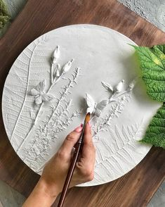 homedecor art Round and square botanical bas-relief for wall decor by DinaArtDecor. Plaster mural botanical bas-relief by art casting for framehouse wall decoration. Wall panel for kitchen, bathroom, hallway, bedroom and living room decor in rustic style Plaster Crafts, Plaster Art, Plaster Walls, Clay Crafts, Plaster Sculpture, Sculpture Painting, Clay Wall Art, Clay Art, Ceramic Pottery