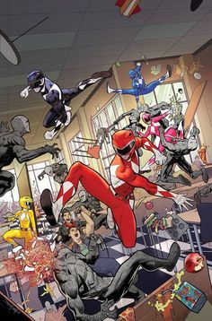 Go Go Power Rangers #3  In the wake of their win against the evil space witch, Rita Repulsa, the newly formed Power Rangers team test the limits of their new abilities when morphed. Meanwhile, Rita plots her revenge by uncovering the Rangers true identities.   via @AnotherUniverse.com  https://anotheruniverse.com/go-go-power-rangers-3