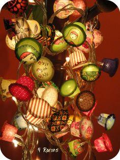 Llums decoratives a partir de càpsules de cafè | DIY decorative lights | Luces decorativas reciclar capsulas café www.4racons.com