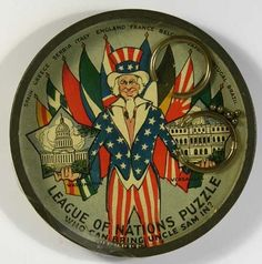 League Of Nations dexterity puzzle, WWI